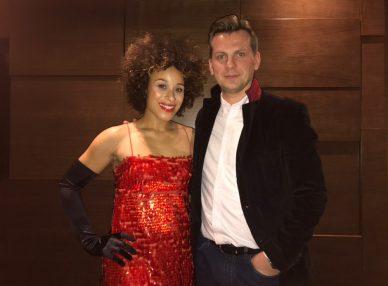 Оceana с букинг агентом BnMusic перед выступлением на новогоднем корпоративе