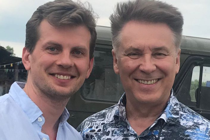 Владимир Березин на фестивале в Коломне с букинг-агентом BnMusic