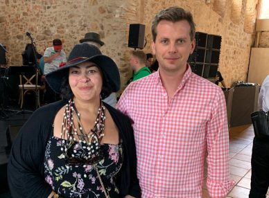 Мариам Мерабова в Барселоне на корпоративе с букинг-агентом BnMusic