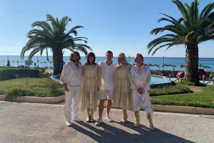 ABBA Mania выступила на частном празднике в Греции.