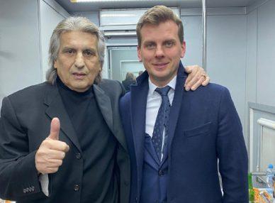 Тото Кутуньо на частном мероприятии в Москве с букинг-агентом BnMusic